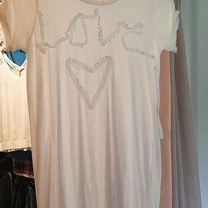 Beautiful off white Love Dress